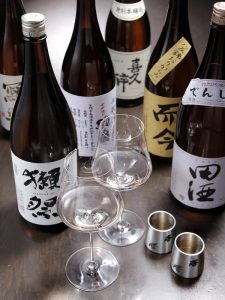 東銀座の和食店【天ぷら竹の庵 東銀座店】の厳選日本酒