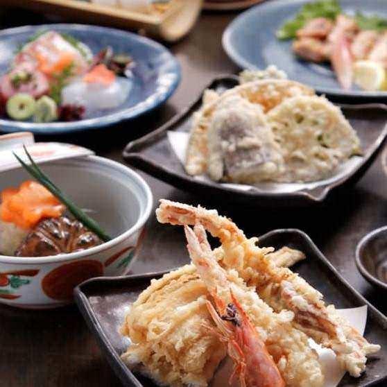 東銀座の和食「くずし割烹 天ぷら竹の庵 東銀座店」で天ぷらを堪能