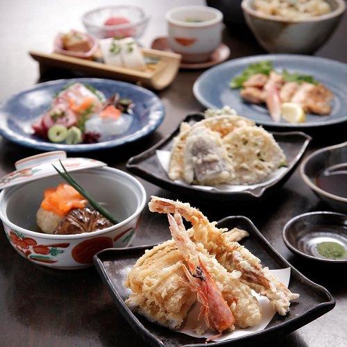 東銀座で旬の食材が堪能できる和食「くずし割烹 天ぷら竹の庵」