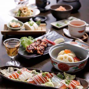 東金座でランチなら和食「くずし割烹 天ぷら竹の庵 東銀座店」