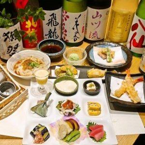 東銀座の和食【くずし割烹 天ぷら竹の庵 東銀座店】で日本酒